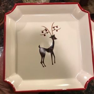 Holiday Reindeer plates